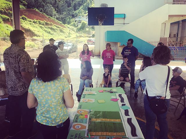 Our final dream workshop was held in the BEAUTIFUL mountain town of Barranquitas. Teachers and community leaders came out early this morning to share their stories, the challenges they still face, and their dreams for a brighter Barranquitas. Follow our Facebook page or check out our website projectcoqui.org for more!!