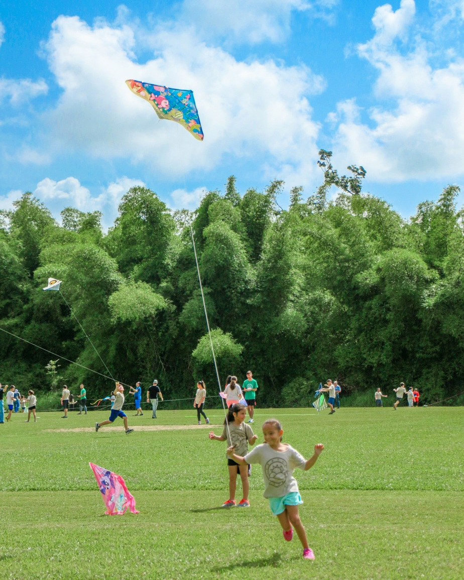 Kite flying is very popular in Puerto Rico. Most children learn to make their own.