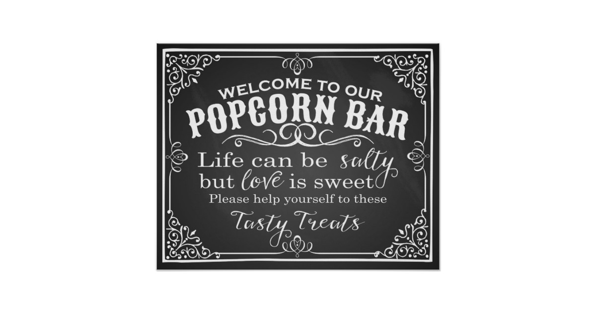 Vintage Popcorn Bar - Black Themed Station or Classic Red & White Station