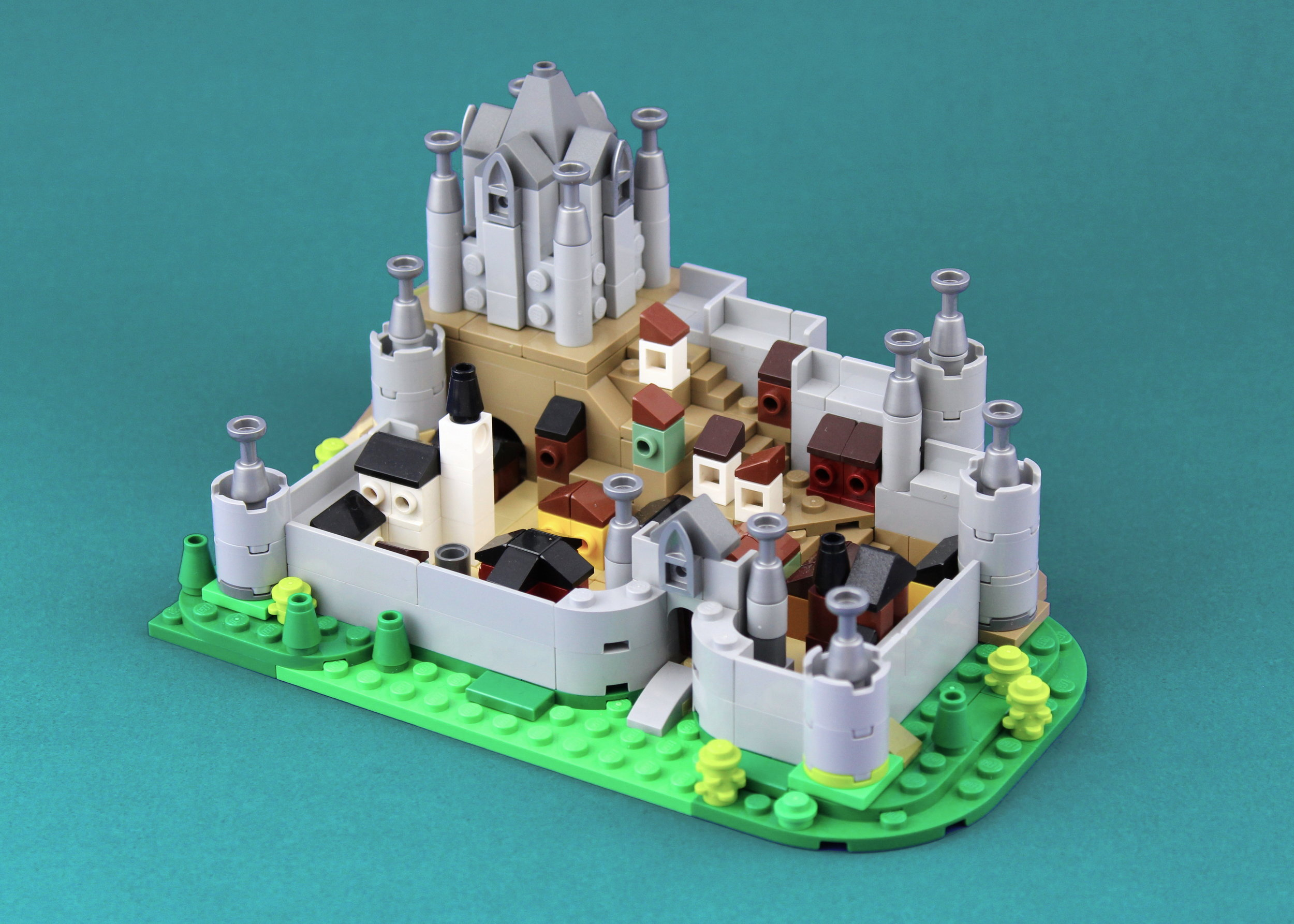 Another view of the castle, showing off the microscale village inside.