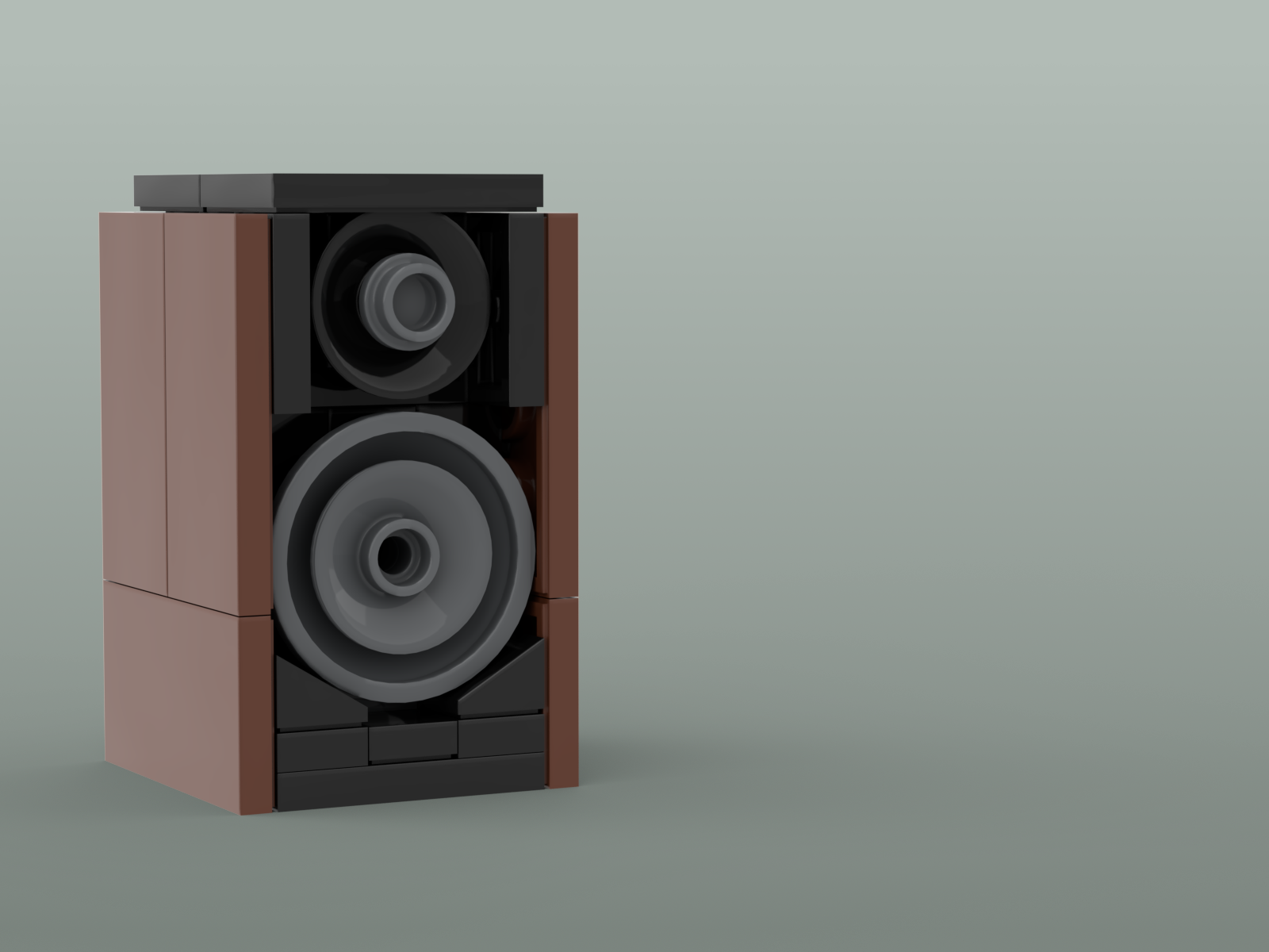 Final render of my 61-piece micro model of the Focal Trio11 speaker.