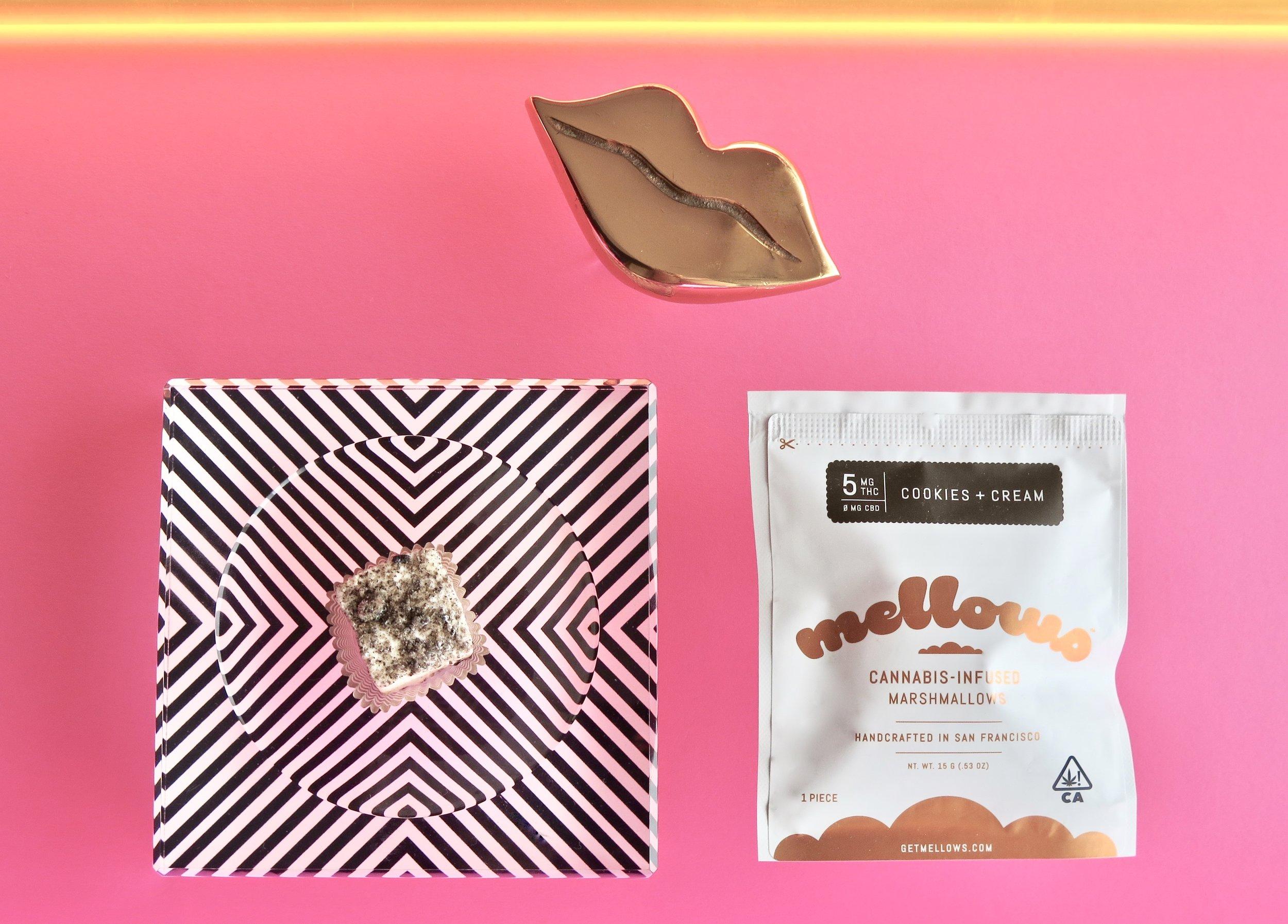 Cookies + Cream Mellows. Photo: Marcia Gagliardi. © mymilligram. Styling: Christian Jusinski/ Surfacehaus . Props:  Jay Jeffers/The Store .