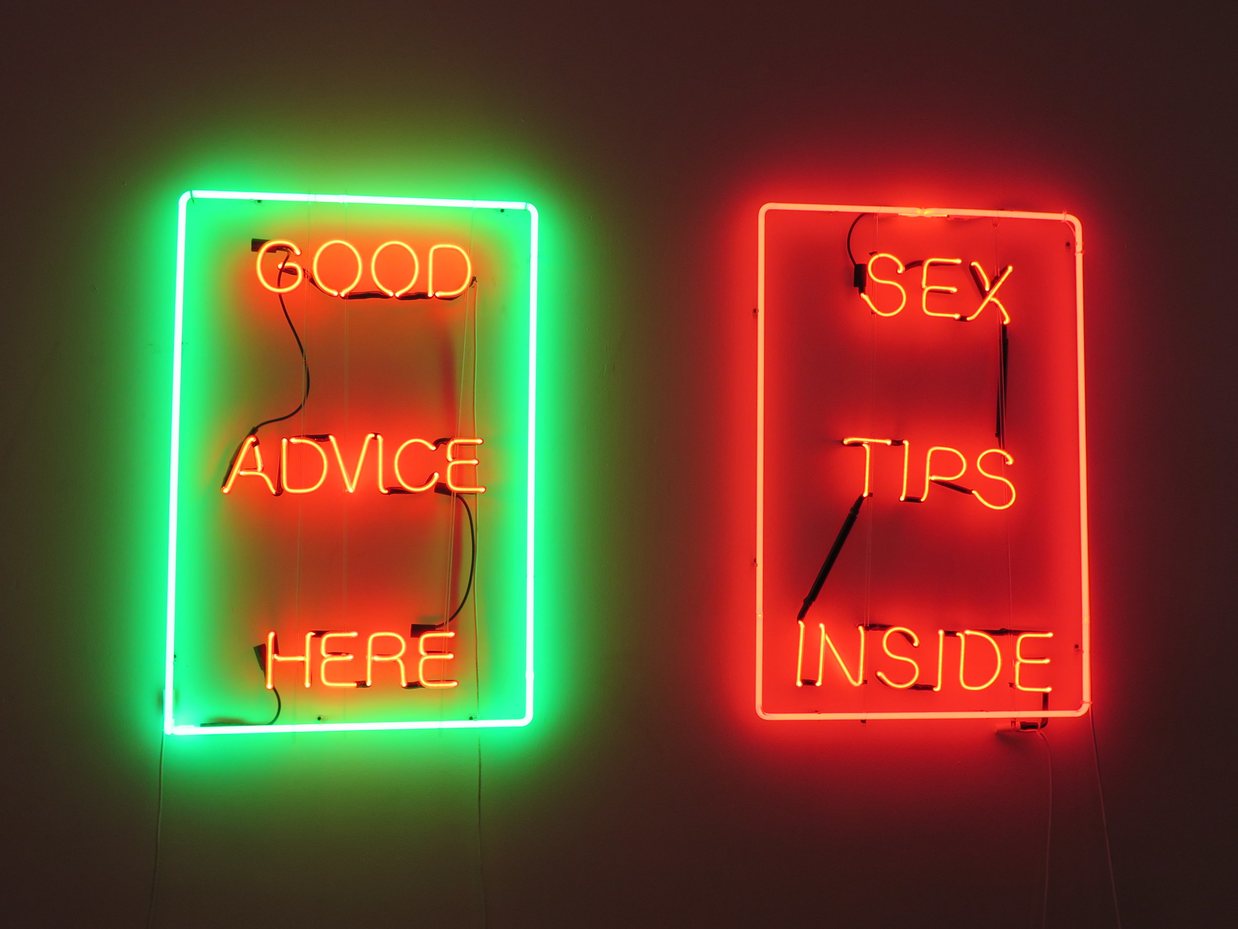 Photo: Marcia Gagliardi. © mymilligram. From She Bends neon show at The Midway Gallery. Artist: Dana Caputo.
