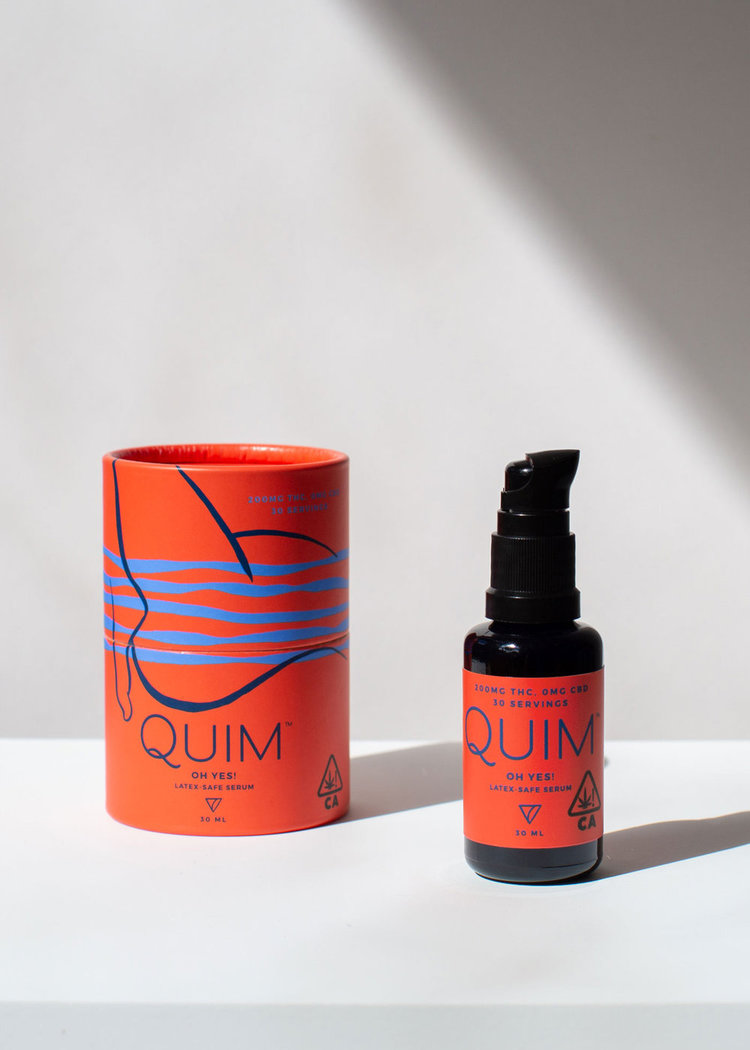 Quim Oh Yes! latex-safe serum. Photo courtesy of  Quim .