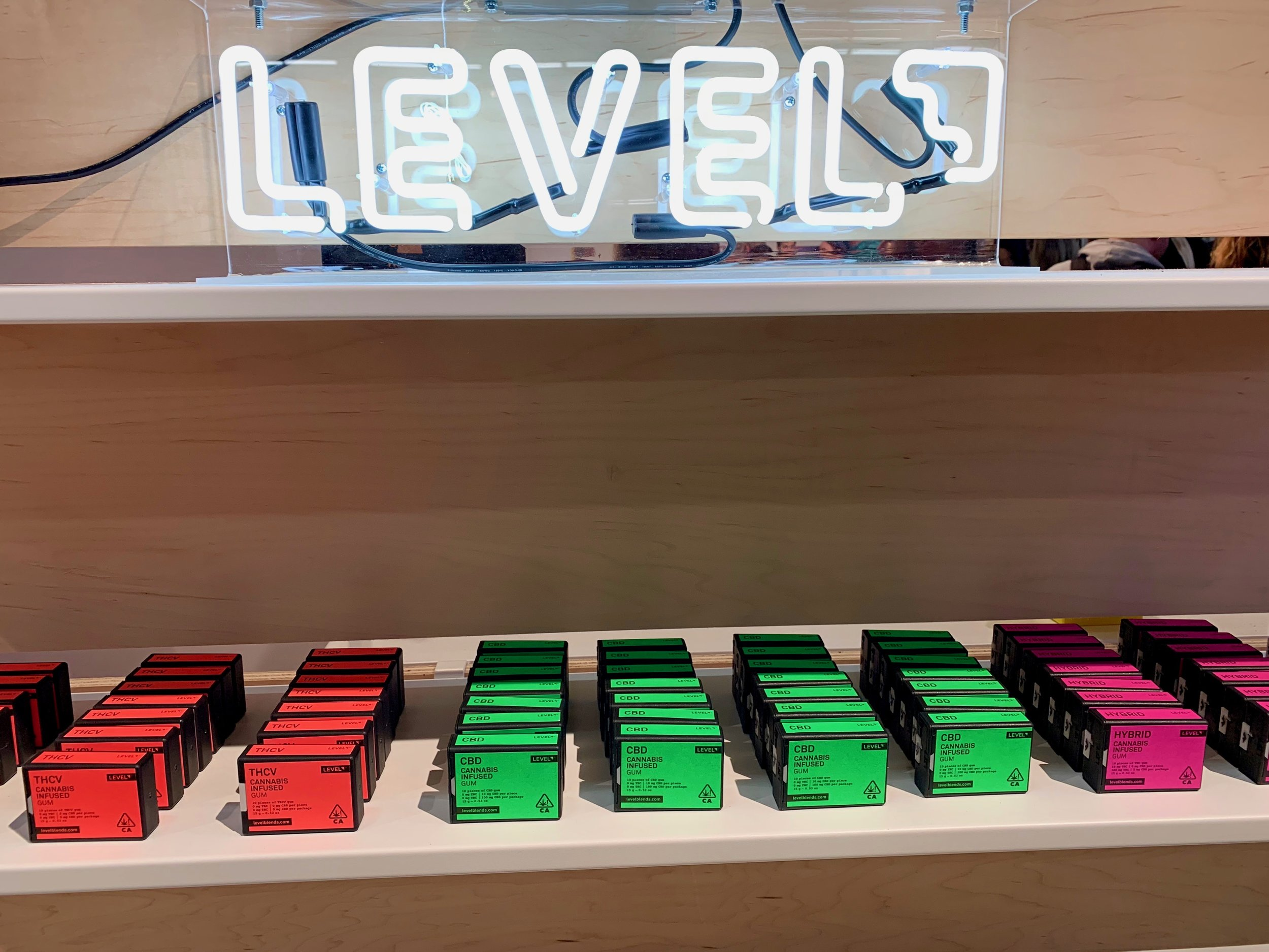 The new line of cannabis gum coming soon from Level. Photo: © mymilligram.