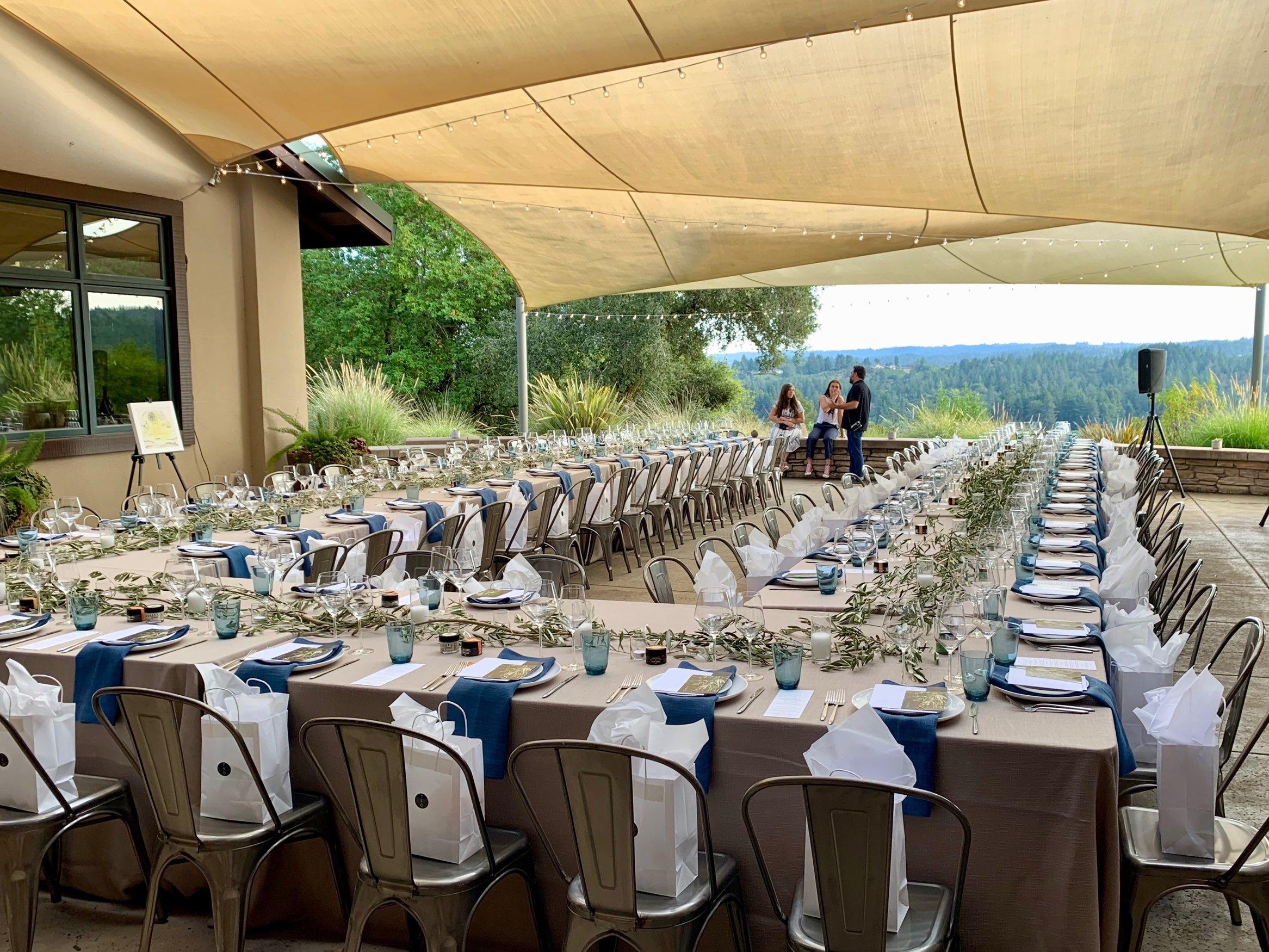 The dreamy setting at Gary Farrell Winery for the TSO Sonoma Terpenes & Terroir dinner. Photos: Marcia Gagliardi. © mymilligram.