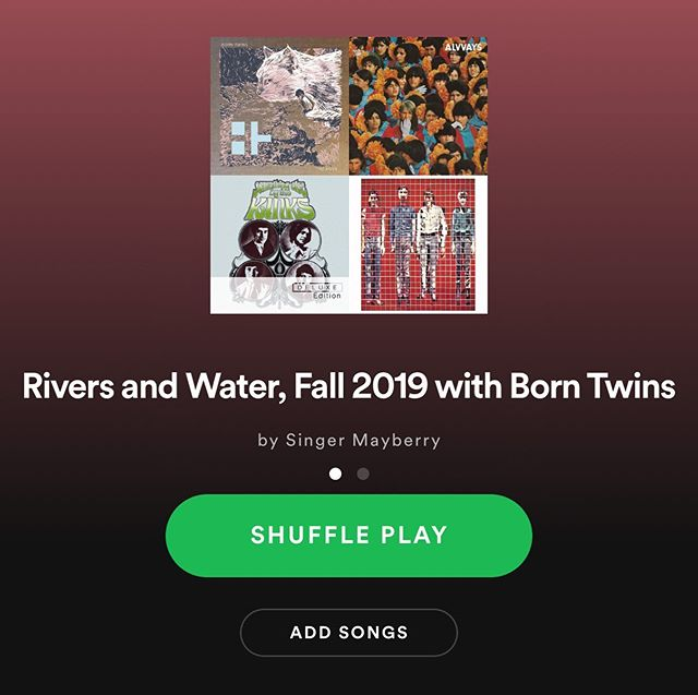 Had fun making this playlist inspired by our latest single, The River. A real mix of genres and artists on here, old and new. https://open.spotify.com/user/singermayberry/playlist/2p84VW1LiQj5IzdbWcwT0u?si=4IFixEDwTde0ygHzylnyjA