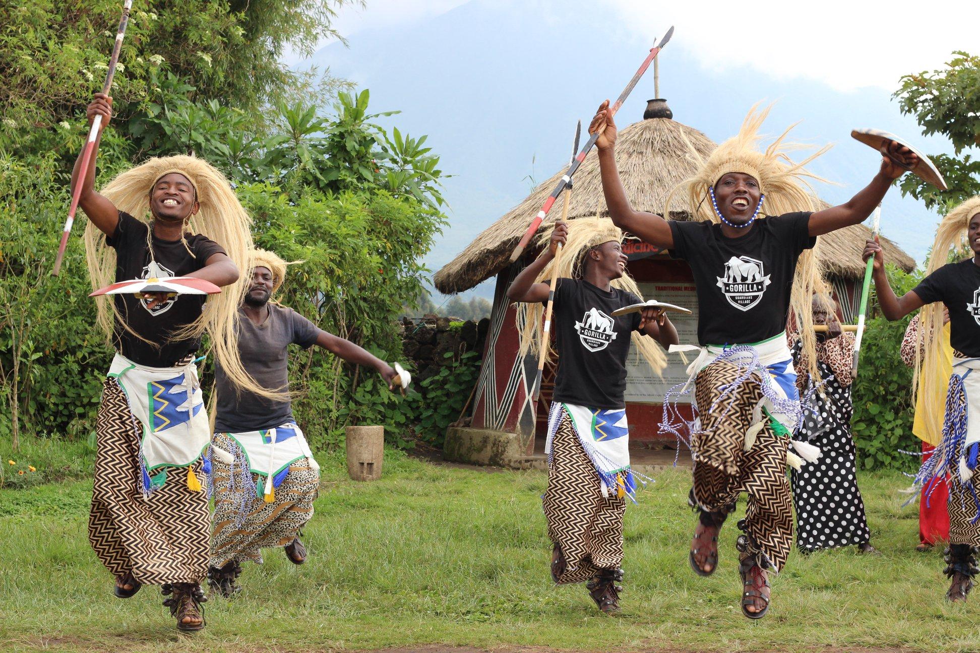 Intore Rwandan dancers