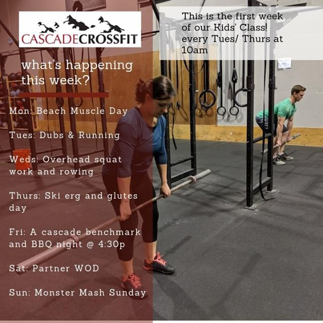 Whats going on this week at Cascade?   Come try it out for a free class!   Click the link in our bio or go to www.cascadecrossfit.com to reserve your free trial  #lifting #fitness #motivation #todolist #training #fitfam #cascadecrossfit #crossfit #northbend #issaquah #snoqualmie #issaquahhighlands #sammamish #fallcity #preston