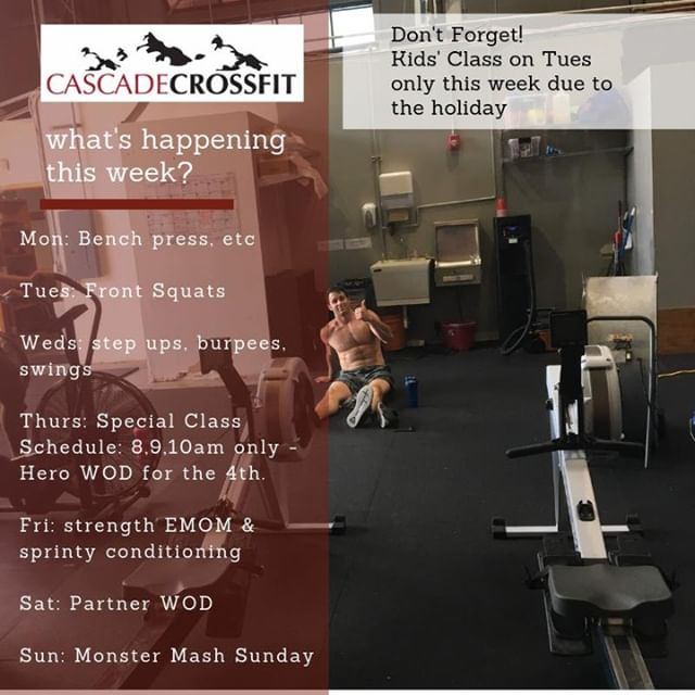 What are we up to this week!!⁠ ⁠ go to www.cascadecrossfit.com to book your free trial :)⁠ ⁠ #lifting #fitness #motivation #todolist #training⁠ #fitfam #cascadecrossfit #crossfit #northbend #issaquah #snoqualmie #issaquahhighlands #sammamish #fallcity #preston
