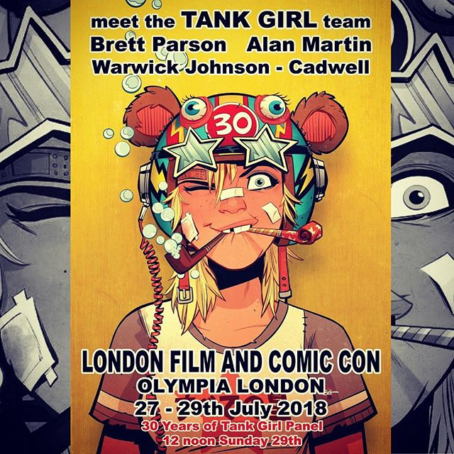 💥Gonna be hangin at London Film & Comic Con this weekend with fearless leader Alan Martin and the deadly art ninja @wocco - hope to see you UK folks there!!🍻🍻🍻 #tankgirl#lfcc2018#comics#london#beerstoyouoldamigo