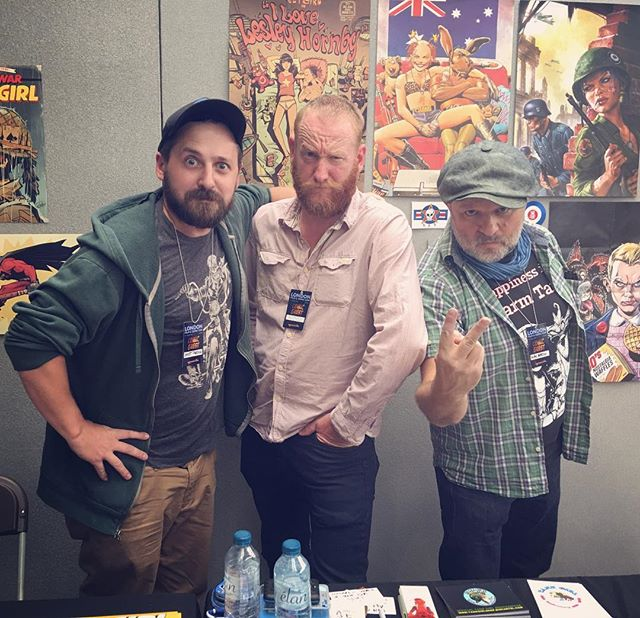 💥Had an awesome time at LFCC this weekend with these two madmen! Big cheers to everyone who made it out to see us, and all the good folks who put on a great show! Now for some beer 😅🍻#lfcc2018 #london#comics#warwickjohnsoncadwell #alanmartin #tankgirl#teamtankgirl#tankgirlallstars#titan21stcenturytankgirl