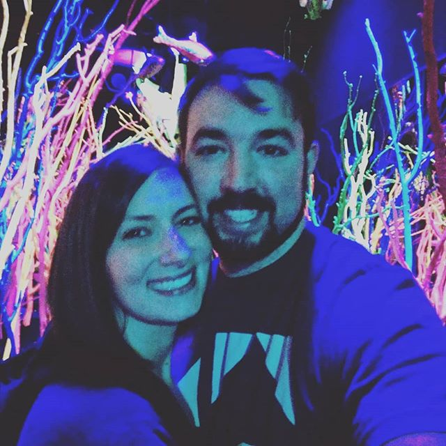 We're ready to party with @bukudatdude and @meow__wolf Coolest venue on the planet. #party #roadtrip #houseparty #santafe #meowwolf #neon #blacklight