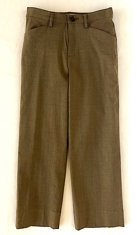 Cafe Mocha Semi-wide Cropped -Linen x Viscose-