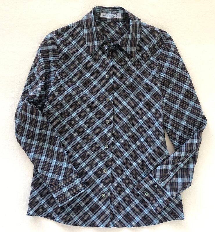 Tartan Check Shirt w/ Hand Stitched Finish