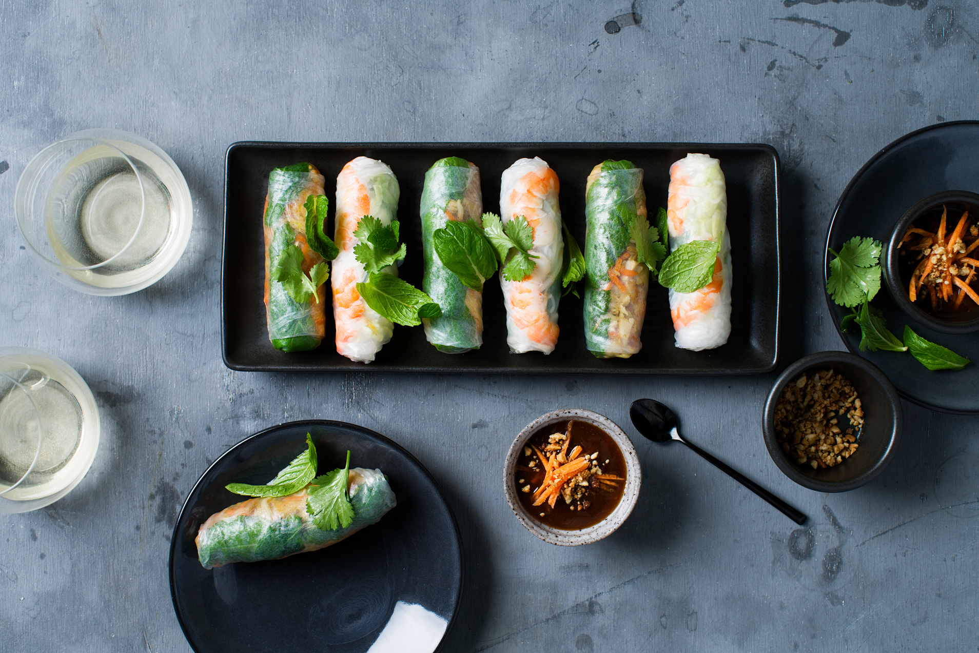 Fresh summer rolls (Banquet 1 and Banquet 2 Entrée)