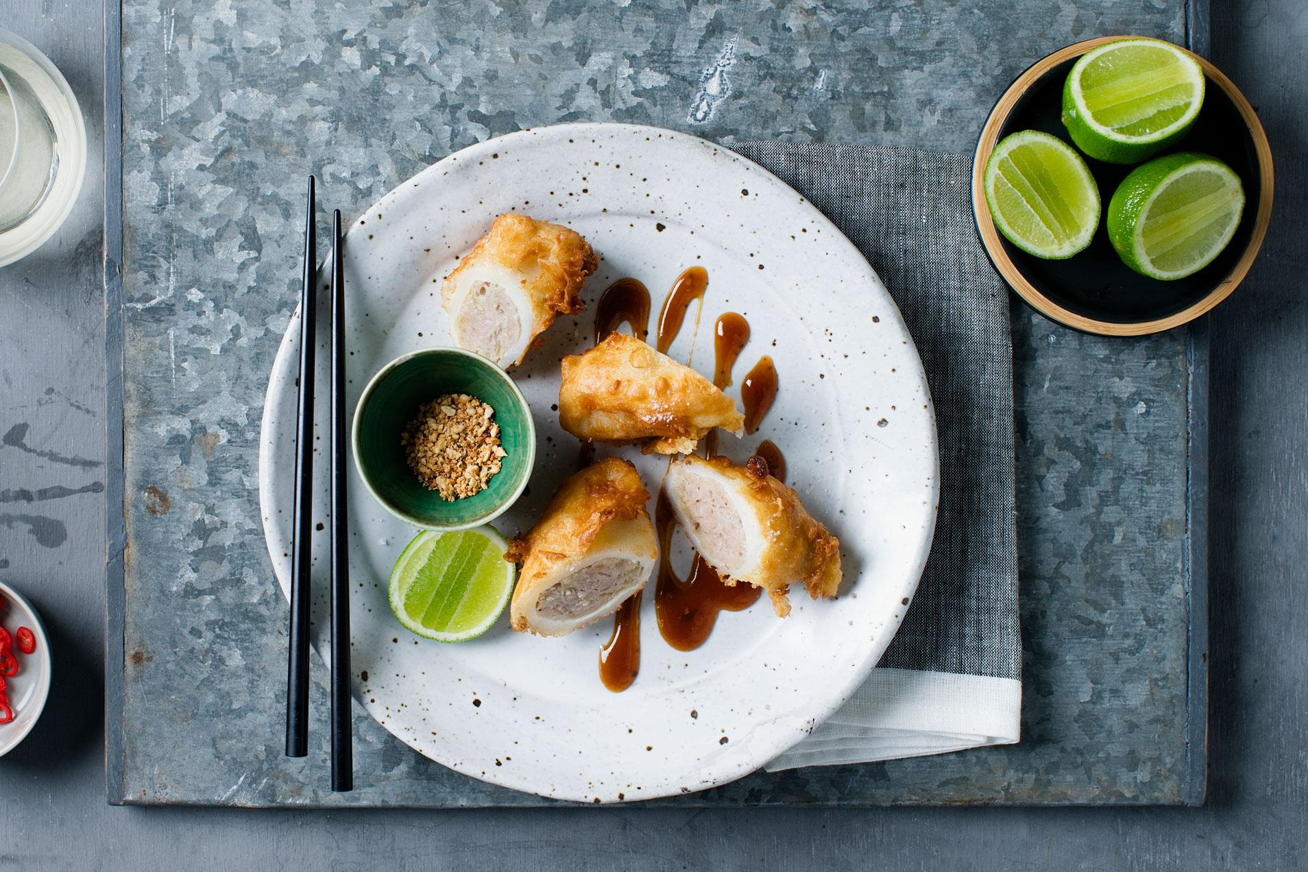 Vietnamese stuffed calamari $17.50 (Seafood)