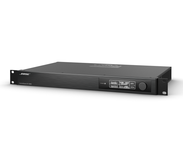 ControlSpace EX-1280C - The ControlSpace EX-1280C conferencing processor includes 12 mic/line analog inputs, 8 analog outputs, 8 AmpLink digital outputs, 12 acoustic echo cancellers (AEC), 64x64 Dante™ and a flexible, open architecture signal processing to meet the needs of a wide variety of integrated-microphone audio conferencing applications. The open architecture design is configured using ControlSpace Designer and features drag and drop programming and allows limitless design possibilities.