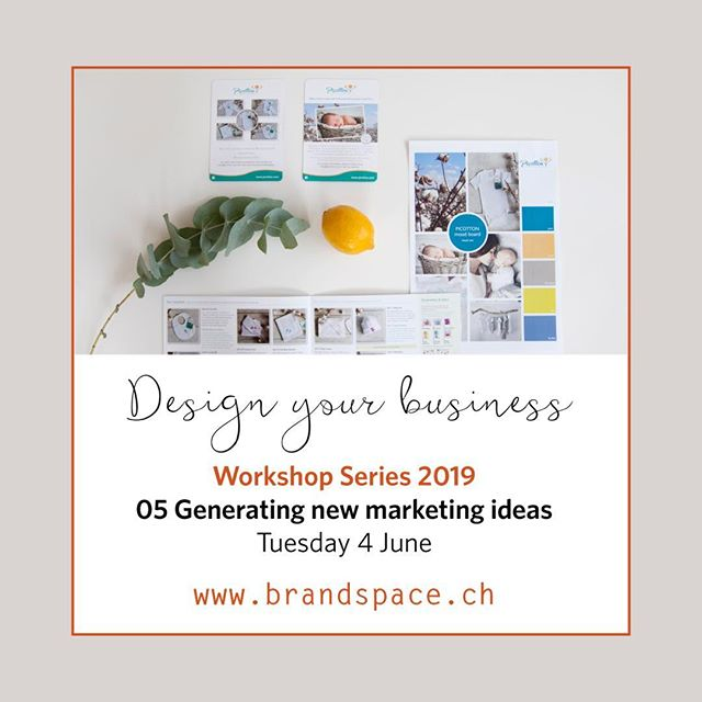 BrandSpace in association with Professional Women's Group (PWG) Zurich will host the 5th of a series of 8 workshops built around how to Design your Business.⠀⠀ ⠀⠀ The workshops are designed to provide you with a `taster' or overview of the essential toolkit required for branding and marketing your business, service or personal brand. ⠀ ⠀⠀ Come and join us for our fourth workshop :-⠀⠀ ⠀ Tuesday 4 June 2019 ⠀⠀ Marketing Ideas - how to plan and generate new marketing ideas  6.30pm - 8.30pm ⠀⠀ Marktgasse Hotel, Zürich ⠀⠀ ⠀⠀ The workshop will discuss how to develop and generate marketing ideas for small business and creative entrepreneurs.  Places are limited so contact us or visit ⠀⠀ www.pwg-zh.com/events to book!  @professional_womens_group⠀⠀ ⠀ ⠀ #smallbizowner#stylishbranding#swissentrepreneurs#logoinspirations#zurich#likemindedpeople#womeninbusiness#businessworkshop#buisnessstrategy#branding#marketing#businessportfolio#innovativebranding#deaignyourbusiness#sophisticatedstyle#personalbranding#brandngsolutions#marketingtips#marketingsolutions#creativeentpreneur#zurichsmallbusiness#brandingportfolio#swissbrand🇨🇭#swissmade#swissstyle🇨🇭#smallbusinessowner#femaleentrepreneur#creativeworkshops#smallbusinessworkshops ⠀