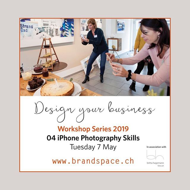 BrandSpace in association with Professional Women's Group (PWG) Zurich is hosting a series of 8 workshops on how to Design your Business.⠀⠀ ⠀⠀ The workshops are designed to provide you with a `taster' or overview of the essential toolkit required for branding and marketing your business, service or personal brand. ⠀ ⠀⠀ Come and join us for our fourth workshop :-⠀⠀ ⠀ Tuesday 7 May 2019 ⠀⠀ Instagram - developing content and Identity  6.30pm - 8.30pm ⠀⠀ Marktgasse Hotel, Zürich ⠀⠀ ⠀⠀ We are pleased to announced that we will be joined by professional photographer - Britta Hagemann @bh_foto who will share her strategies and tips to help you transform your media profile.  Places are limited so contact us or visit ⠀⠀ www.pwg-zh.com/events to book!  @professional_womens_group⠀⠀ ⠀ ⠀ #smallbizowner#stylishbranding#swissentrepreneurs#logoinspirations#zurich#likemindedpeople#womeninbusiness#businessworkshop#buisnessstrategy#branding#marketing#businessportfolio#innovativebranding#deaignyourbusiness#sophisticatedstyle#personalbranding#brandngsolutions#marketingtips#marketingsolutions#creativeentpreneur#zurichsmallbusiness#brandingportfolio #swissbrand🇨🇭#swissmade#swissstyle🇨🇭#smallbusinessowner#femaleentrepreneur#creativeworkshops#smallbusinessworkshops ⠀