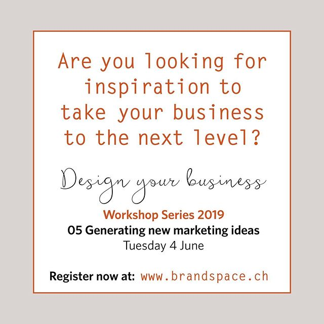 To find out more about our upcoming Taster Workshop Series on Generating Marketing ideas for small businesses and creative entrepreneurs, visit our website, link in bio ⠀ ⠀ ⠀ ⠀ ⠀ #marketideas #swisssmallbusiness #zurichentrepreneurs #generatingMarketing #swissentrepreneurs #marketingonline #marketingplanning #creativeentrepeneur