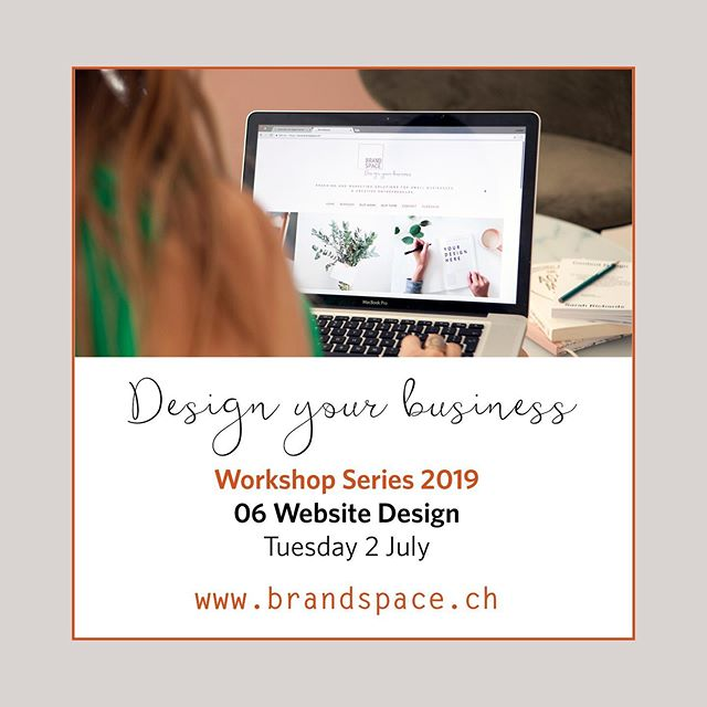 Want to learn how more about designing your own website!  Join BrandSpace in partnership with PWG for the Taster Workshops (6): Website Design When: July 2nd - 6.30pm to 9.30pm Where: Marktgasse Hotel, Zurich  Tanya Deans our Digital Designer Specialist, will show us the most important things to consider when building your website! Register here: www.pwg-zh.com #professionalwomen #workshop #personalbranding #networkingevent#ladypreneur #womeninbusiness #creativebrand #website #webdesign  Joanne Bergin  Brand Space – Design your business joanne@brandspace.ch +41 (0)78 665 28 31  www.brandspace.ch  BRANDING AND MARKETING SOLUTIONS FOR SMALL BUSINESSES & CREATIVE ENTREPRENEURS