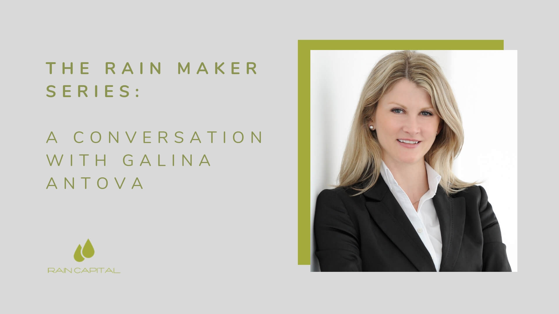 The Rain Maker Series: A Conversation With Galina Antova (Claroty)