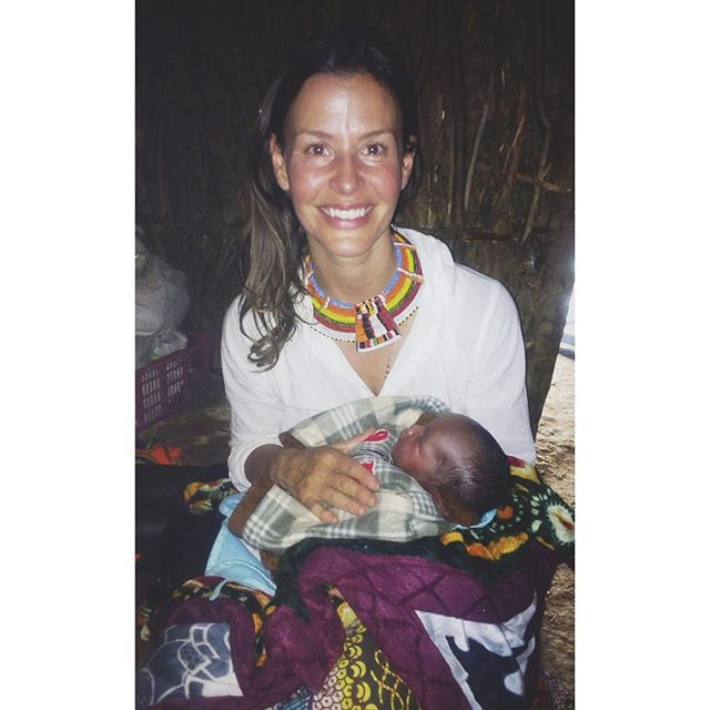 """His mother was told she would need a c/s since her baby was breech so she came to me for a second opinion and I said: listen my hands are not an ultrasound machine, but from what I am palpating, your baby is head down... not breech. She was a first time mom in a Samburu community living in a mud hut, having a c/s can save lives, but in her context having a c/s for no medical reason can impact her life dramatically. I wasn't sure what she would decide. No hospital in the region would assist her to give birth to a breech baby without a c/s! So we were waiting for her to call to go to the hospital for a c/s, but it turns out differently.  She birth him at her village, a vaginal birth, and the head was down indeed. Turns out my hands may be """"ultrasonic"""" after all ;) Love to this handsome boy and his powerful mother."""