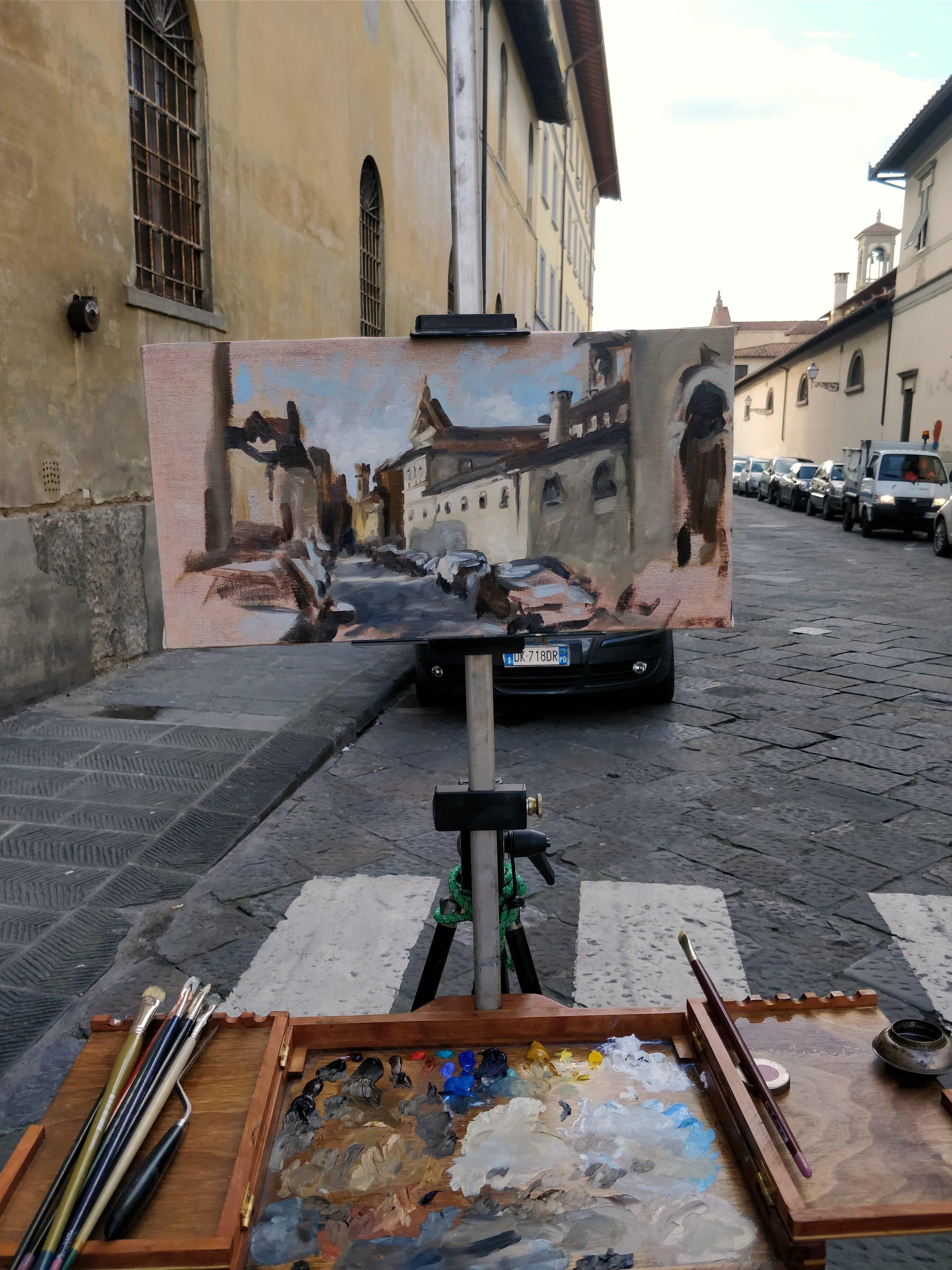 Behind Santa Croce, Florence