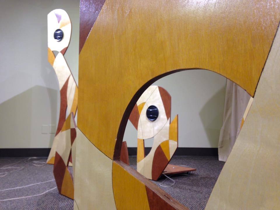 Detail of  Reverberations  installation, 2016.