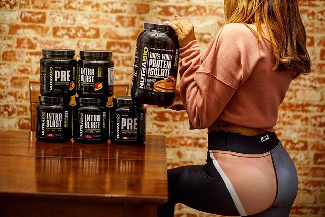 Fuel up with some supplements from @NutraBio.  You wouldn't put trash fuel in your Lambo don't do it to your body!  Also check out these new comfy matching leggings and crops!! Link in Bio!!!! • • • @a1prospects