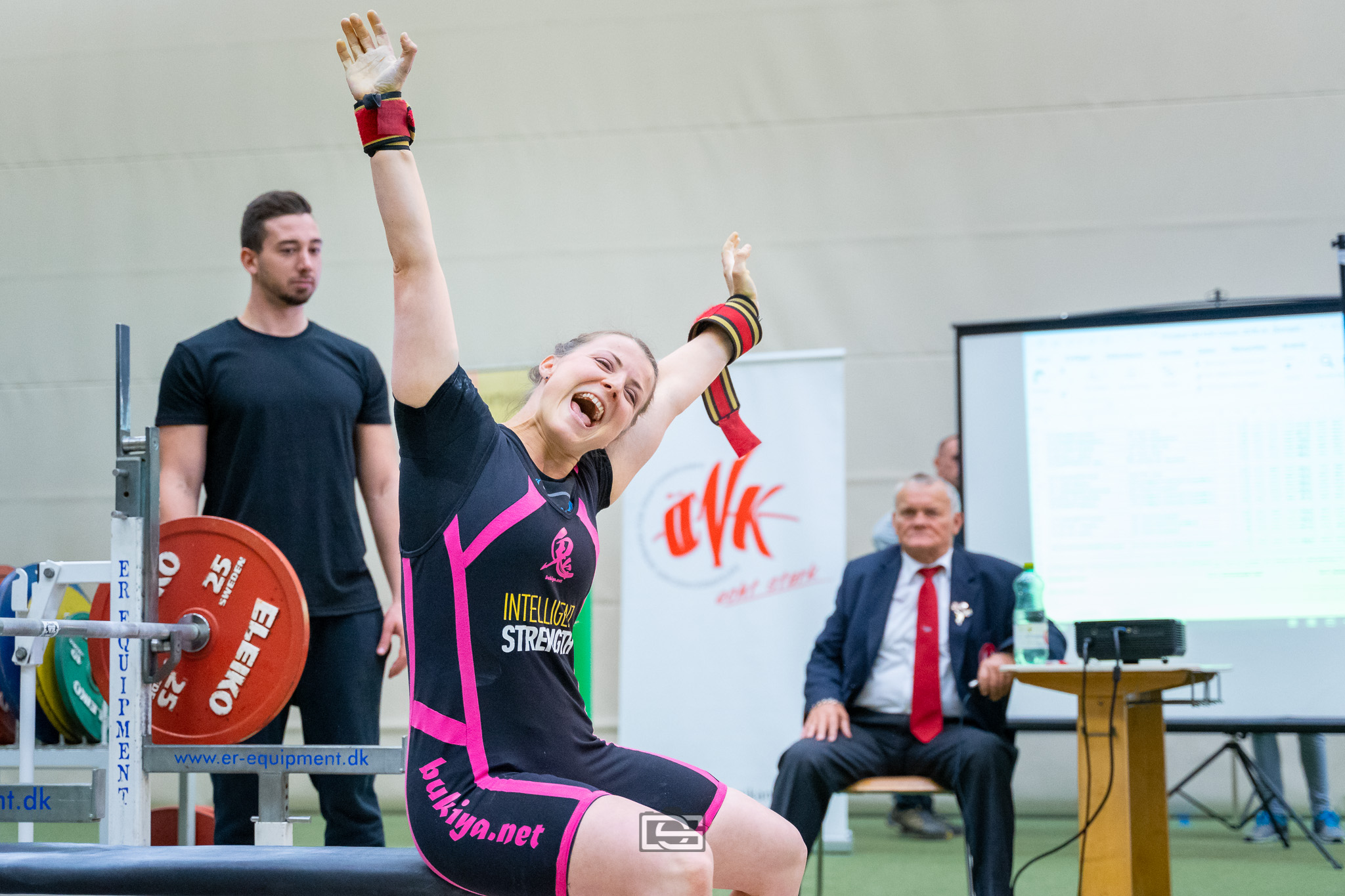 Exited about easy 200 pound Bench [90,5kg] breaking national record twice. -