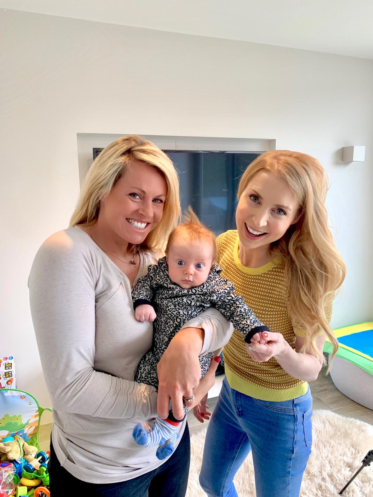 Filming healthHackers Ep 31 with Chemmy and baby Cooper