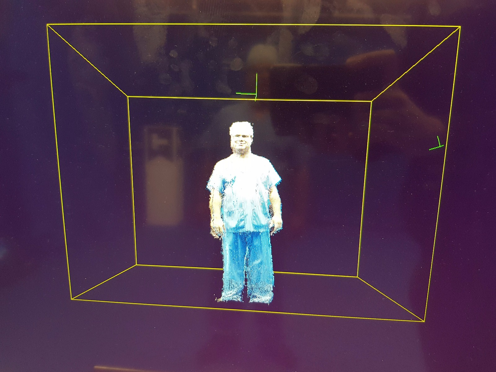 Shafi's holographic image during his trial with virtual teleportation