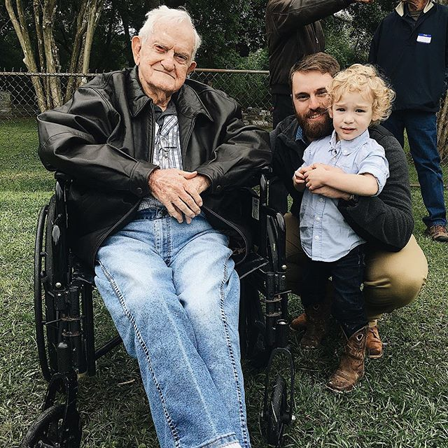 I'm so grateful for family. I love these 3 guys and their live for one another. 4 generations of life lived and I'm in awe of God's faithfulness within each.