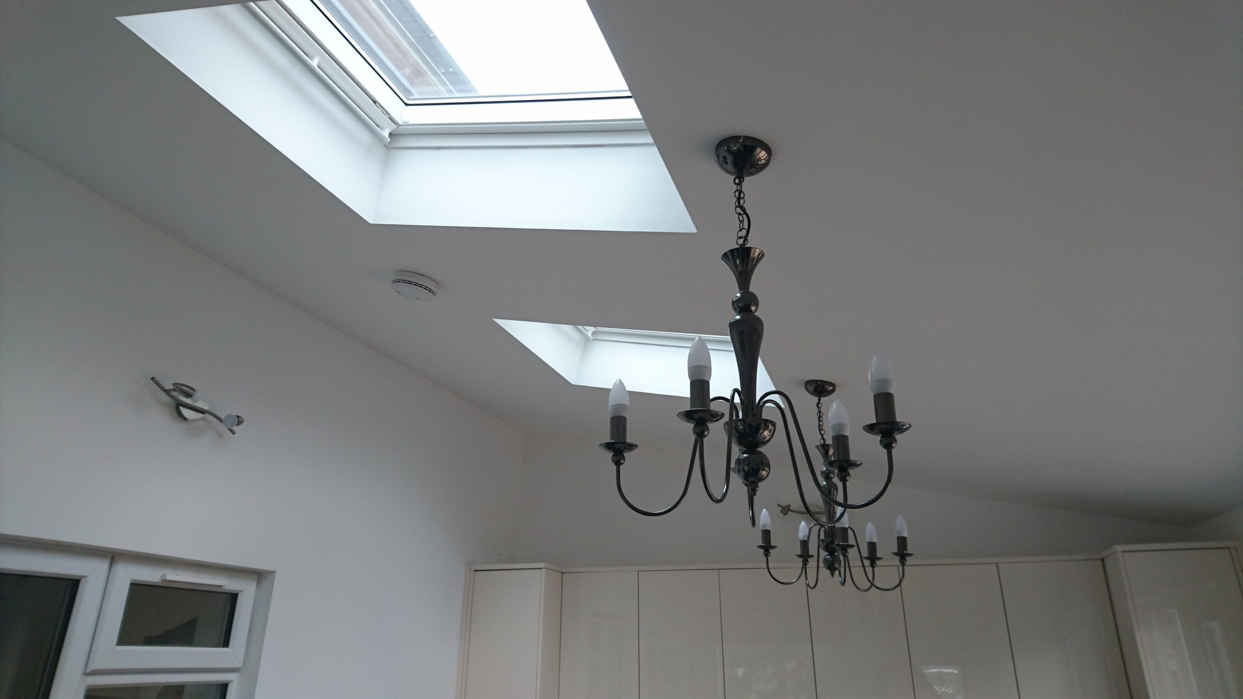 Internal view of roof lights and ceiling lighting.JPG