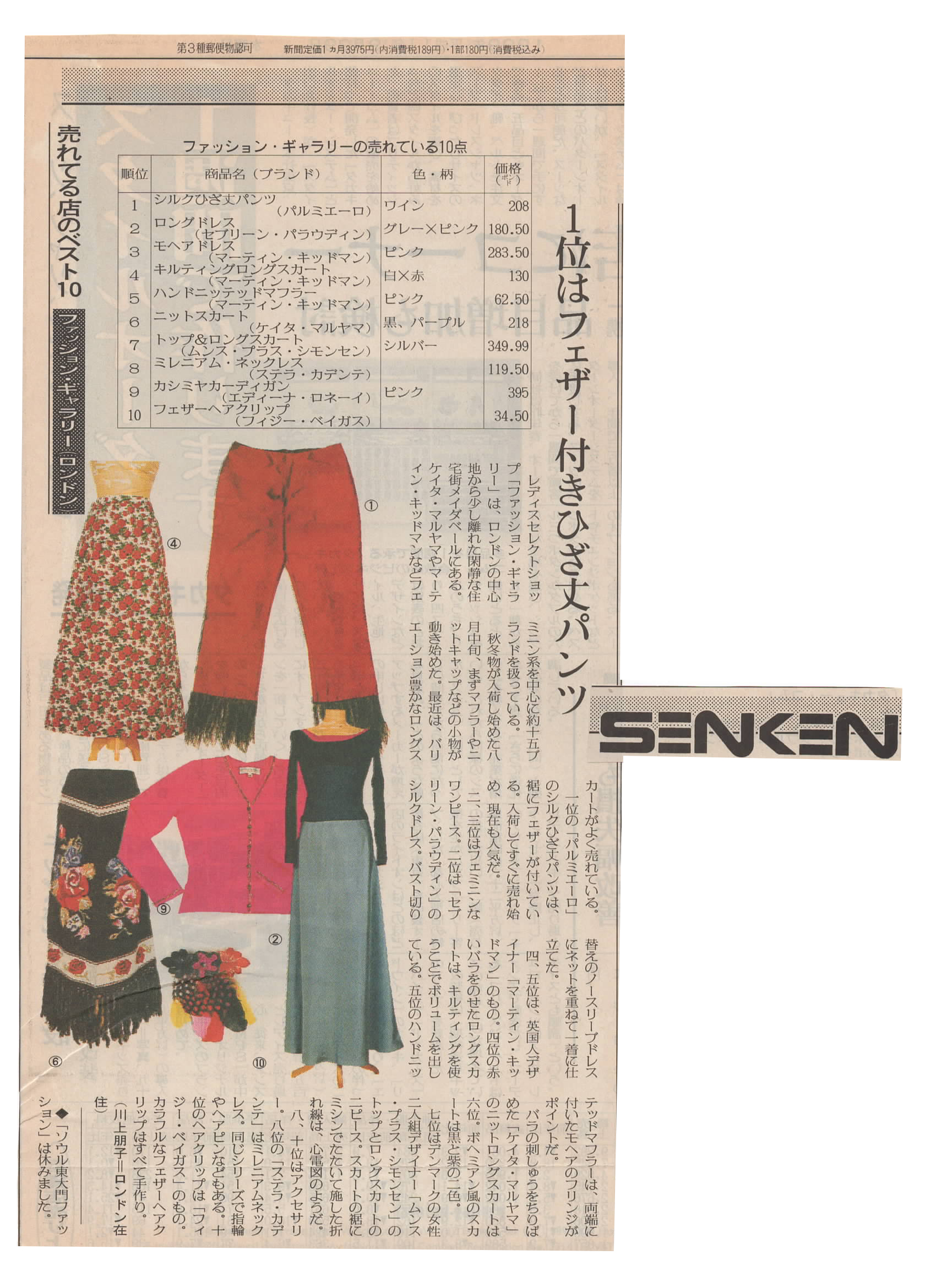 Selection of items - Senken