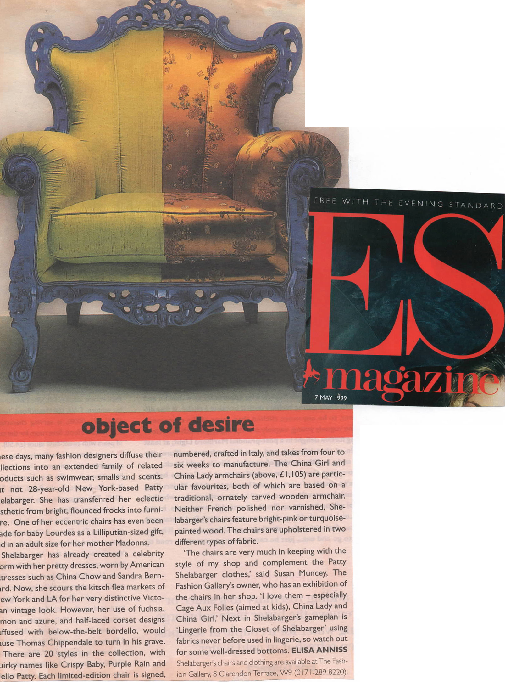 Patty Shelabarger chairs - ES Magazine