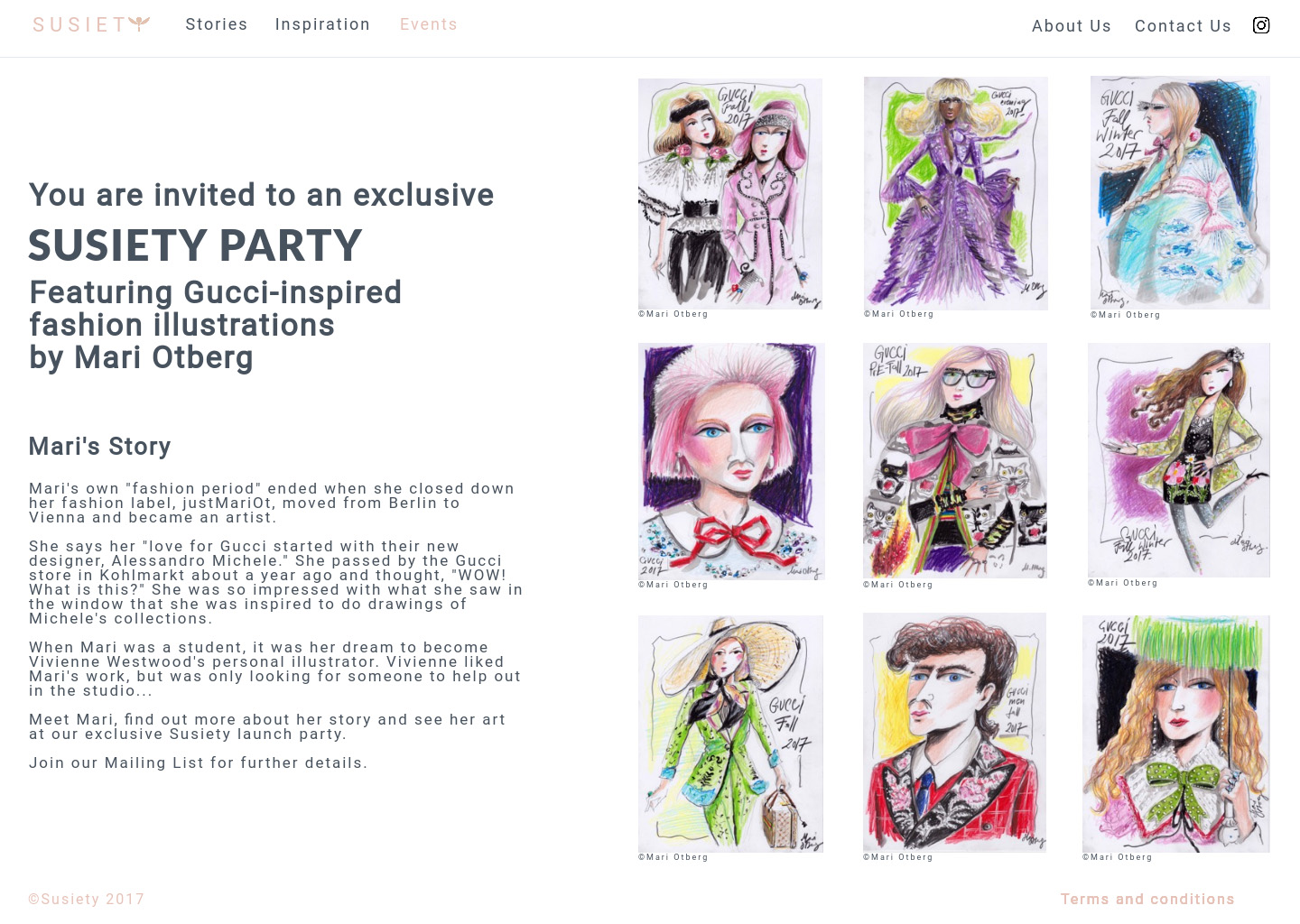event proposal - Launch party proposal for Kering Corporation - in collaboration with artist, Mari Otberg
