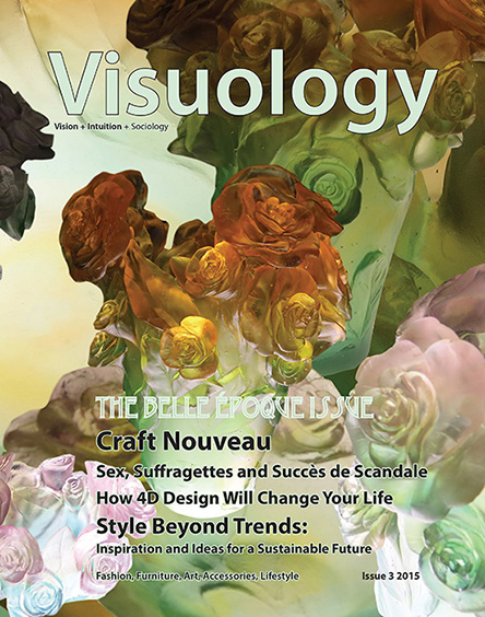 sustainable design and lifestyle magazine origination, branding and design - Invented the word 'visuology' a combination of 'vision', 'intuition' and 'sociology' - and the concept of 'style beyond trends'Re-branding and re-design, below, was carried out in collaboration with Harriet Bedder