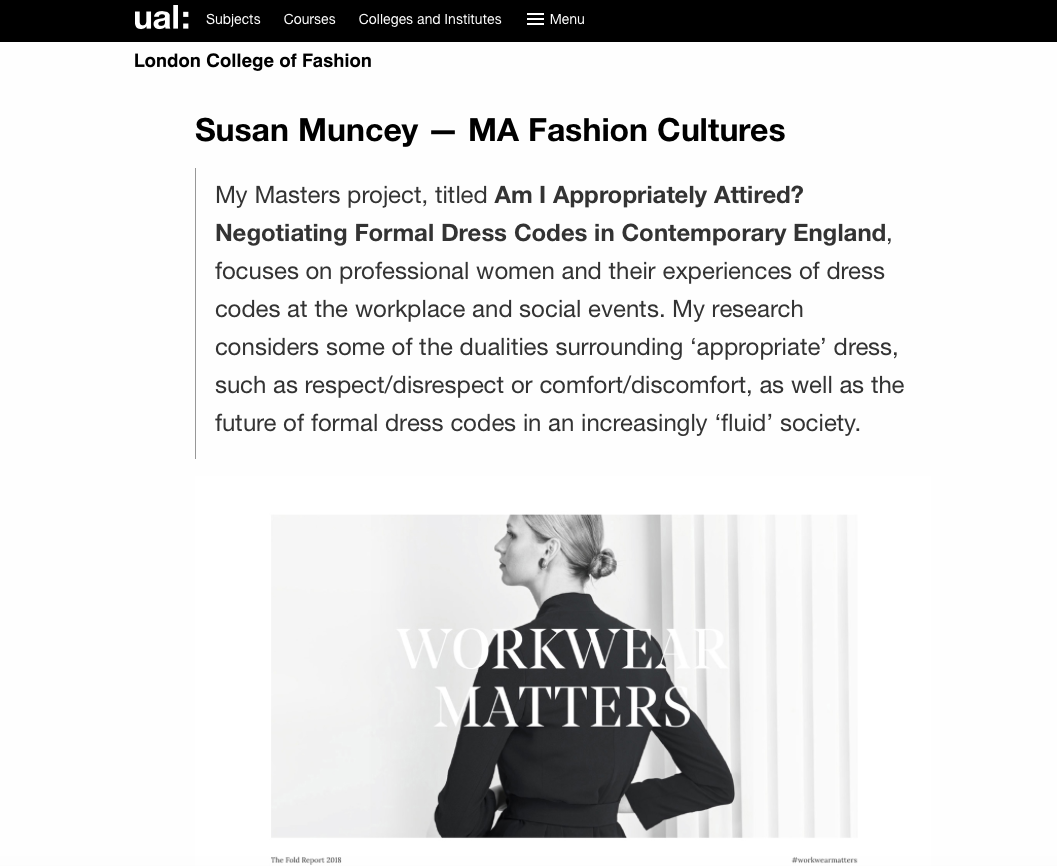 Fashioned worlds exhibition - UAL blog on London College of Fashion School of Media and Communication Class of 2019