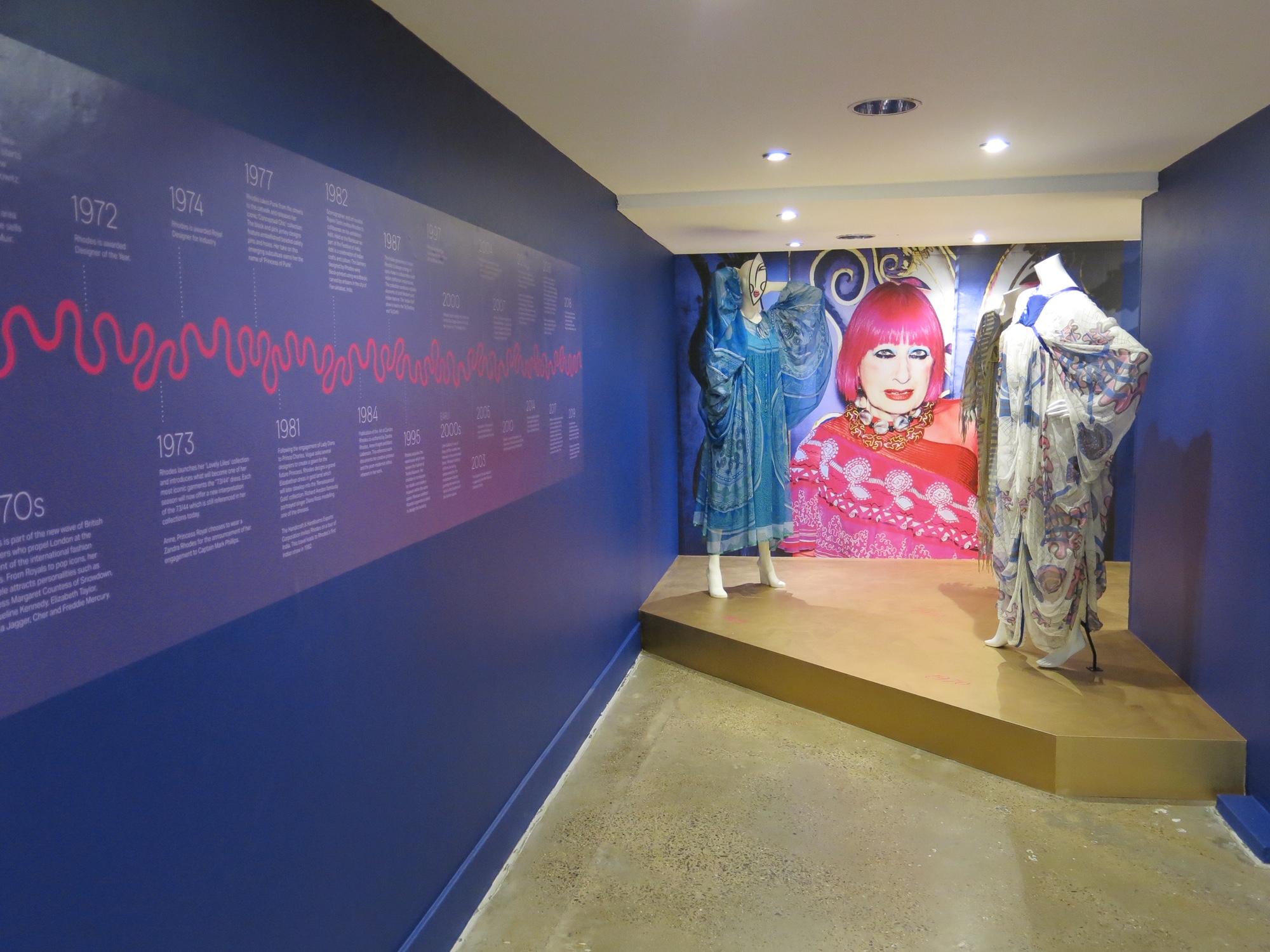 Entrance to Zandra Rhodes 50 Years of Fabulous.JPG