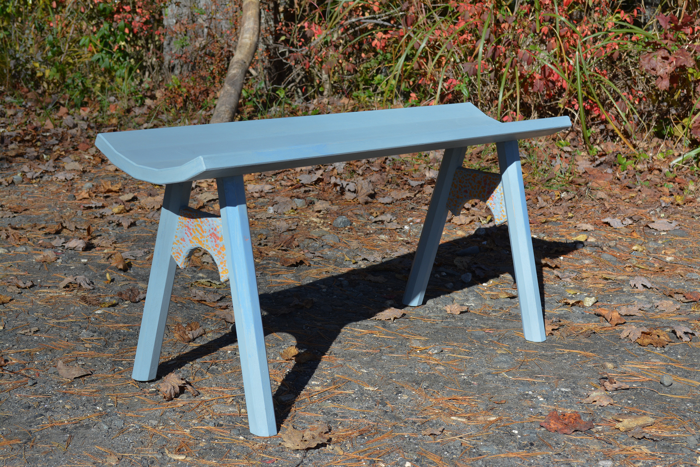 A Slate Date Bench