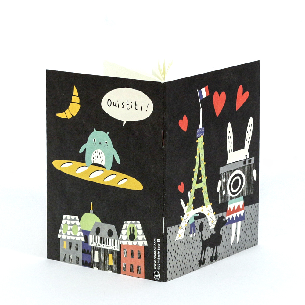 Paris Notebook with Noodoll