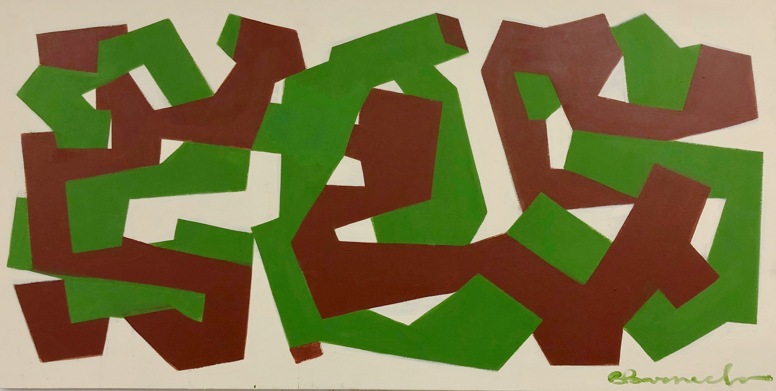 Energy (green) - Latex on Canvas - 5' x 3' - $2500 - 2016