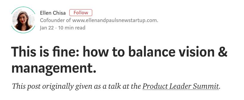 Ellen Chisa Vision & Management