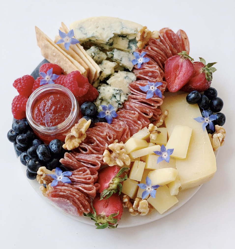 """That """"Red White + Blue Cheese"""" Plate"""