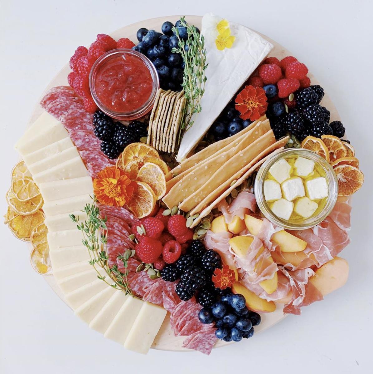 """That """"Prosciutto + Peaches"""" Plate"""