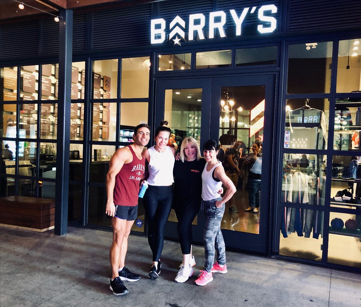 Barry's Bootcamp CEO, Joey Gonzalez joins EMA CEO, Debbie Levin and Board Members Katie Aselton and Constance Zimmer for an Earth Week workout