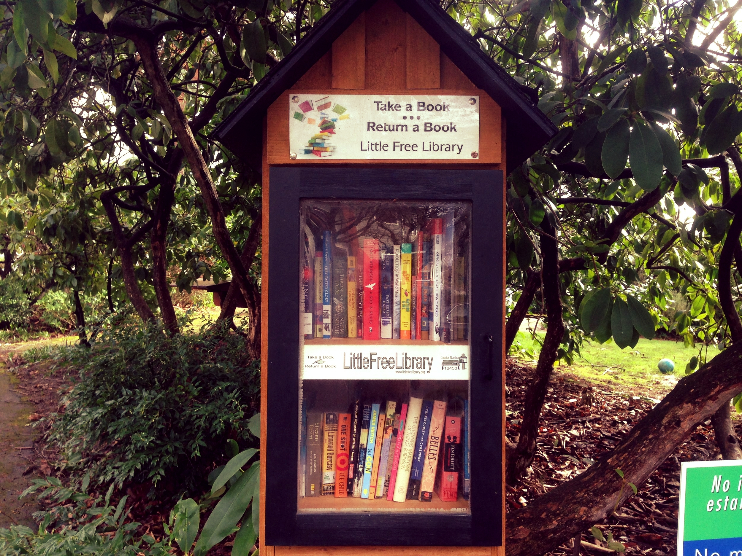 Little Free Library - Pick up a book or leave a book to share at our Little Free Library Kiosk.